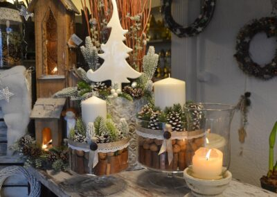 Realizacja - Kwiaciarnia Atena w Luboniu, Traugutta 24A, dekoracja świąteczna, Wigilia, Boże Narodzenie
