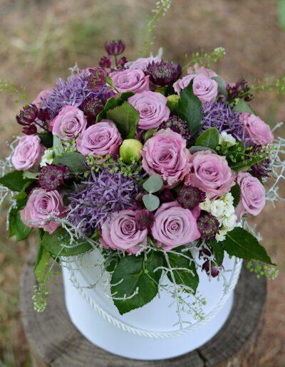 Realizacja Flower box - Kwiaciarnia Atena w Luboniu, Traugutta 24A, bukiety, kompozycje i dekoracje ze świeżych kwiatów